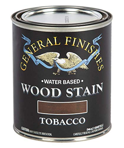 General Finishes Water Based Wood Stain, 1 Quart, Tobacco