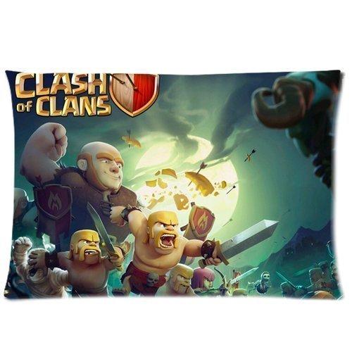 not Custom Games Clash of Clans COC Pillow Case Cover Pillowcase s Kissenbezüge (50cmx75cm)