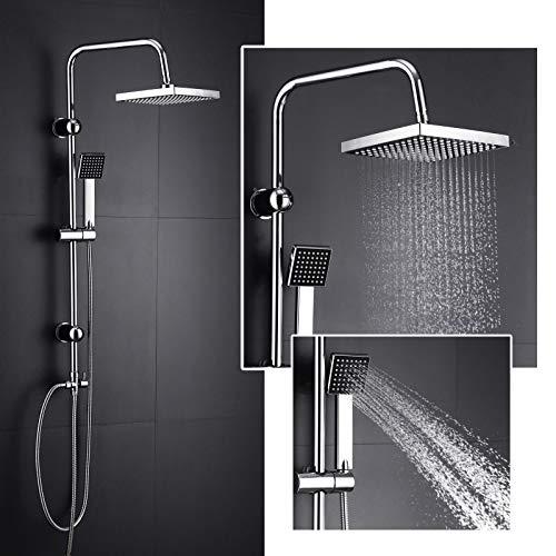 Duschset Moderne Design Duscharmatur Duschsystem mit Regendusche und Duschkopf Handbrause für Badezimmer