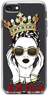 Kaidan iPhone X XR XS Max Case Sunglasses 6/6s 5/5s/SE 8 7 Plus Girl in Crown Samsung Galaxy A60 A50 Personalized S10 S9 S8 Plus Note 8 9 Note 10 Plus Custom Name Google Pixel 2 3 LG G7 G6 Plus SaO152