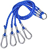 5. SF 4 Arm Crab Trap Harness with Heavy Duty Metal Hooks for Sailing Fishing #Blue 1 Pack Big
