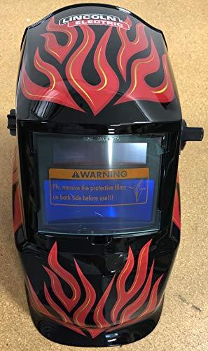 Lincoln Electric Auto-Darkening Welding Helmet with Grind Mode- Red Steel, Model Number K3446-1