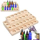 PhantomSky 30 Löcher Holz Organizer Aromatherapie Geschenk-Box Halter Ätherische Öle Flaschen Aufbewahrung Display Regal - Geeignet für Nagellack, Duftöle, Ätherisches Öl, Stain und...