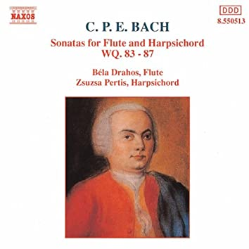 BACH, C.P.E.: Sonatas for Flute and Harpsichord, Wq. 83-87