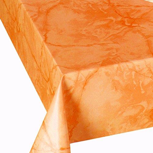 DecoHomeTextil Wachstuch Wachstischdecke Tischdecke Breite und Länge wählbar abwaschbare Gartentischdecke Lack Marmor Terra 100 x 140 cm Eckig