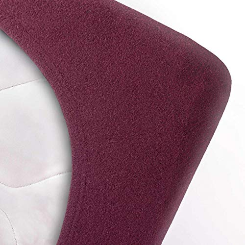 #3 Etérea Teddy Flausch Kinder-Spannbettlaken, Spannbetttuch, Bettlaken, 18 Farben, 60×120 cm – 70×140 cm, Bordeaux - 2