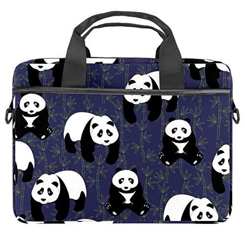 13-14.5 Inch Laptop Sleeve Case Cute Pandas Protective Cover Bag Portable Computer Notebook Carrying Case Briefcase Message Bag