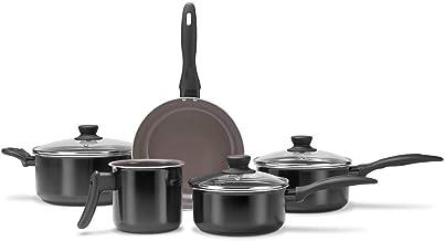 Jogo De Panelas Com 5 Peças Ceramic Life Easy Brinox - Preto Brinox Brinox Cer. Life Smart Preto No Voltagev