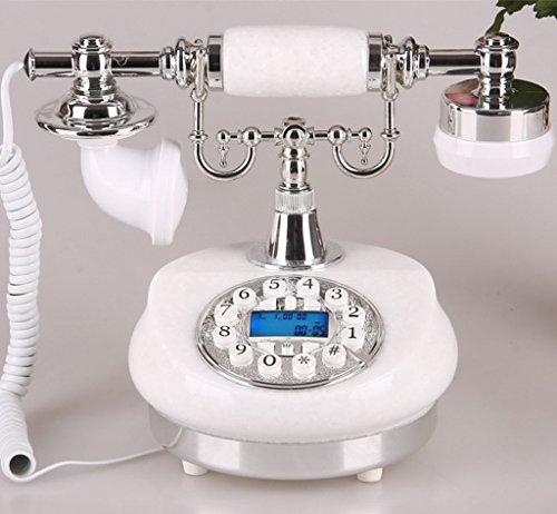 Shopping-De style européen Antique Bowlder Retro Fashion Creative Téléphone Blanc / Jaune