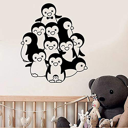 Lindo pingüino tatuajes de pared habitación de bebé animal vivero niños niños niñas dormitorio decoración del hogar vinilo arte de la pared pegatinas mural lindo