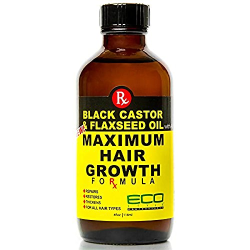 Price comparison product image Ecoco Eco Style Black Castor Oil & Flaxseed Oil Maximum Hair Growth Formula,  4 Ounce