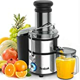Juice Extractor, Bextcok Centrifugal Juicer Machines Ultra Fast Extract Various Fruit and Vegetable Electric Juice Extractor with 3' Large Feed Chute BPA Free Easy Clean for Orange Celery Carrot