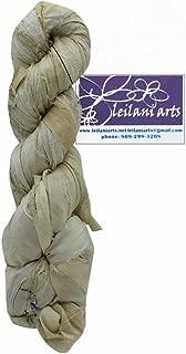 Leilani Arts LEI804892 Silk Ribbon 60yd Ivory Silk Ribbon Natural