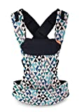 Beco Gemini Baby Carrier - Geo Teal Blue, Sleek and Simple 5-in-1 All Position Backpack Style Sling for Holding Babies, Infants and Child from 7-35 lbs Certified Ergonomic