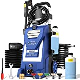 mrliance 3800PSI Electric Pressure Washer 3GPM High Pressure Power Washer Machine with 5 Spray Tips, Soap Bottle, 2000W Car Washer, Pressure Cleaner for Fences Patios (Blue)