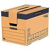 BANKERS BOX SmoothMove Cajas de transporte y mudanza súper resistentes, doble espesor, con asas, no necesita cinta de embalar, montaje automático FastFold, 37.5 litros, 30 x 30 x 40.5 cm, pack de 5