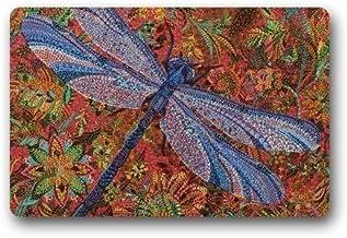 ZMvise Rubber Custom Dragonfly Doormat Rug Indoor Outdoor Door Mats Home Decor Non Slip Carpet 18 x 30 inch