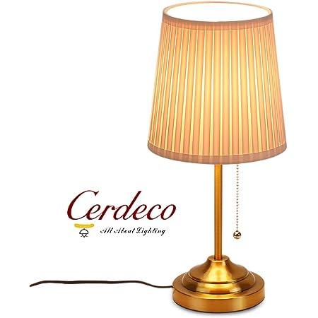 (セーディコ)Cerdeco 大型 アンティークスタンドライト 真鍮メッキに古色調 経年変化が美しい 独特な風合い テーブルランプ インテリア 無段階調光 黄銅色 TBL03