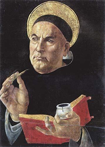St. Thomas Aquinas by Sandro Botticelli Art Print, 9 x 12 inches