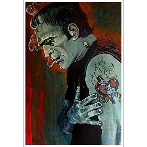 Broken Hearted by Mike Bell Frankenstein Monster Tattoo Art Print for Framing