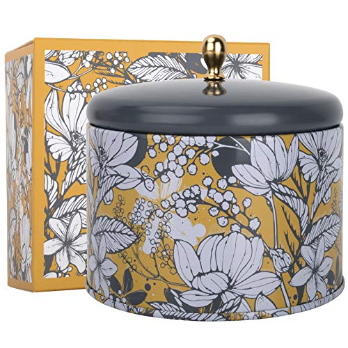 LA JOLIE MUSE Orange & Bergamot Scented Candle, 100% Natural Candle for Home,40-50 Hours Long Burning, Tin, 14.1Oz/400g