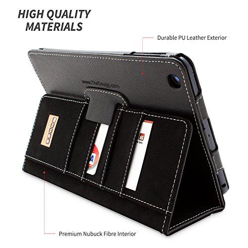 Custodia Esecutivo in Pelle Nero per iPad Mini &