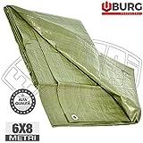 6x 8mt Lona occhiellato pesante 120gr/m² Cubierta toalla PE