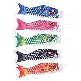 DOITOOL 5 Piezas Carpa Japonesa windsock Streamer Fish Flag Kite Koinobori decoración Colgante para Sushi japonés Bar izakaya Room 40cm