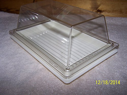 Tupperware Cheese Server Tray Ivory with Clear Top