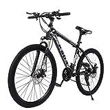 2021 New Mountain Bike 21 Speed 26 inch Bike Aluminum Frame, Front Suspension Outdoor Sports Road Bike for Men &Women (Black)