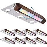 LEONLITE 8-Pack 7 Inch LED RGB Hardscape Lighting, 270° Swivel Retaining Wall Lights, 3W 12V Low Voltage Paver Light, Adjustable Memory Function, IP65 Waterproof