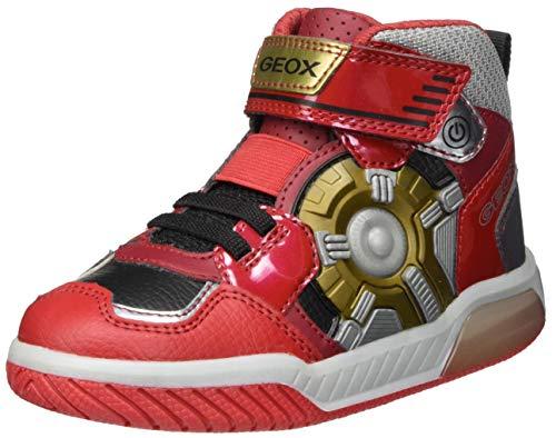 Geox Boys J INEK Boy A Sneaker, Red, 31 EU