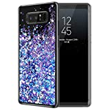 Galaxy Note 8 Case, Caka Galaxy Note 8 Glitter Case for Women Girls Girly Luxury Fashion Bling Shinning Flowing Liquid Floating Sparkle Glitter Soft TPU Case for Samsung Galaxy Note 8 (Blue Purple)