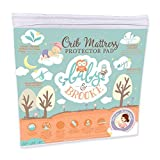 Organic Bamboo Fitted Crib Mattress Protector Pad by Baby&Brooke – 100% Waterproof, Absorbent, Non-Toxic, Breathable Mattress Cover - (52'x 28'x 8')