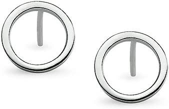 Silverline Jewelry 925 Sterling Silver Round Circle Open Geometric Shape Dainty Stud Earrings   Minimalist Delicate Jewelry