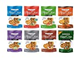 Snack Factory Deli Style Crunchy Pretzel Cracker Crisps, 8 Flavor Variety Pack, 7.2 Ounce Bags (Pack of 8)
