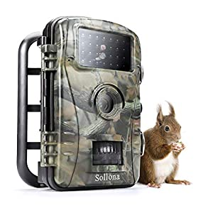 Sollona Wildlife Trail Camera Trap 16MP-12MP 1080P 940nm IR LEDs No Glow No Flash Great Night Vision Motion Senor Activated IP66 Waterproof for Outdoor Nature Garden Home Security Hunting