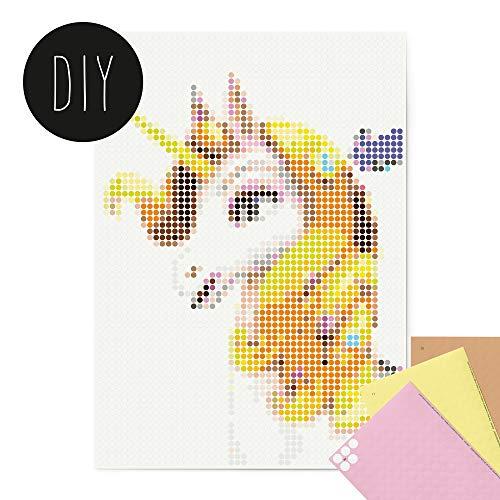 dot on Mia and Me Onchao DIY Poster - 50 x 70 cm | – Bastelset für Kinder und Erwachsene - Bilder mit Klebepunkten - Stickerset Mosaik Set - Aufkleber Basteln Selbermachen DIY - Onchao Unicorn Einhorn