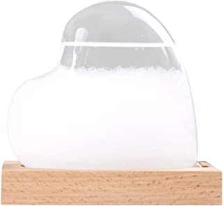 Funiup Crystal Weather Forecast Bottle Storm Glass Weather Predictor Storm Glass Weather Station Decorative Desktop Weather Predictor Water Drops for Home and Office