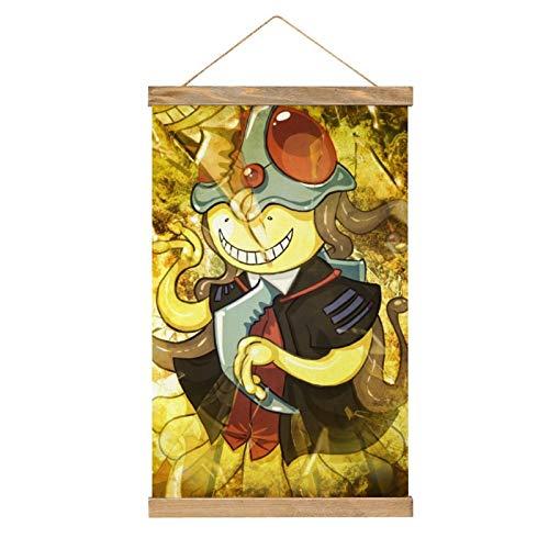 WPQL Lienzo de alta calidad para colgar un cuadro, anime Assassination Classroom con un sombrero, Koro Sensei, moderno lienzo mural, póster fácil de instalar - 33.1 x 50.4 cm.