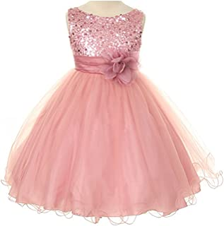3bb20026bb3 Kids Dream Sequin Mesh Flower Girl Dress Infant Toddler Little Girl