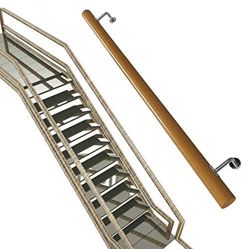 Pasamanos Escalera de madera Barandilla, Pasillo Antideslizante Barandillas de escalera Varilla de soporte, Loft Villa Interior y exterior Pared Escalera Kit de barra de agarre for ancianos / niños