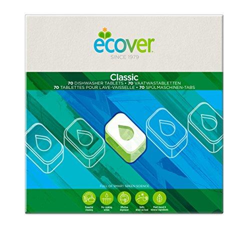 Ecover Classic Spülmaschinen-Tabs Zitrone & Limette (70 Stück/1,4 kg), Spülmittel mit pflanzenbasierten Inhaltsstoffen, Ecover Spülmaschinentabs für eine kraftvolle Reinigung
