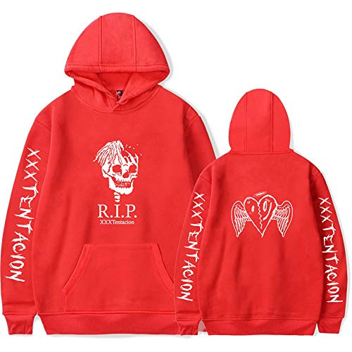 Memorial Xxtentacion Merch Sudadera con Capucha Rapper Pullover Hip Hop Sudadera Rip
