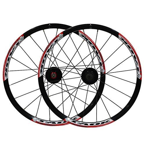 AIFCX Bicicletas montaña Ruedas, 20inch foldBicycle de Ruedas, aleación Aluminio Frenos Disco...