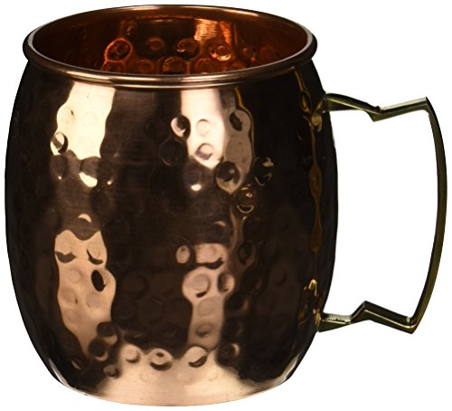Hand Hammered Moscow Mule Mug / Cup 16 Ounce (1, Copper)