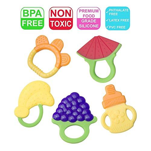 Bio Baby Zahnen Spielzeug Säugling Kleinkind Zahnen Schmerzen Erleichterung-ungiftig,100% sicher...
