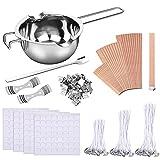 Uponer Kit de Fabricación de Velas 150 Mechas Enceradas,2 Soporte de Metal 224...