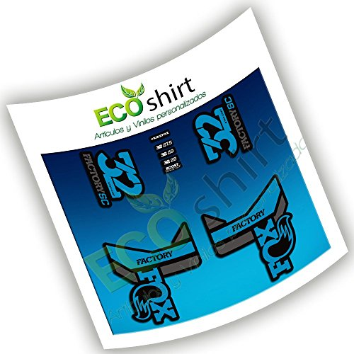 Ecoshirt M2-VZG5-J63U Pegatinas Fox 32 Factory SC Eco53 Fork Stickers Aufkleber Adesivi Bike Decals, Azul