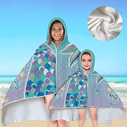 NIASGQW Albornoz Niños Poncho de Surf– Ligero, Compacto y de Secado rápido...
